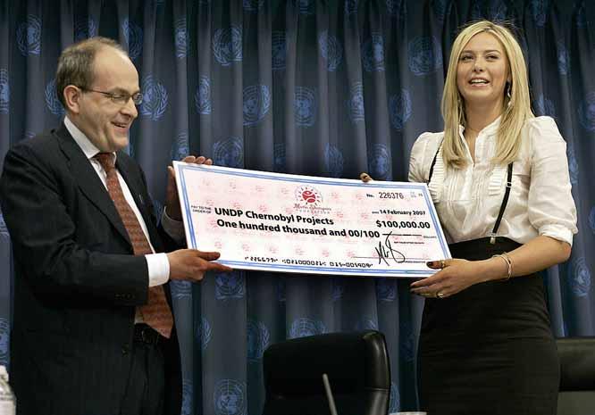 sharapova-UN-cheque