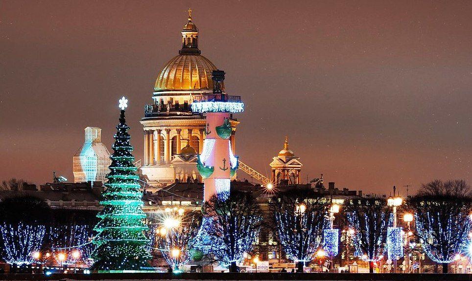 Погода на Новый Год 2018 в Санкт-Петербурге