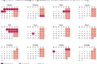 выходные дни 2019 год график