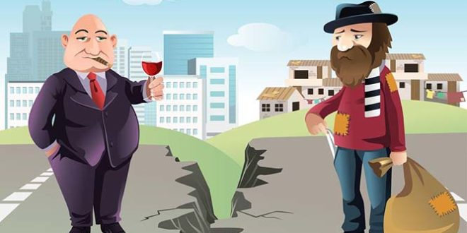 разница заработка между богатыми и бедными в России